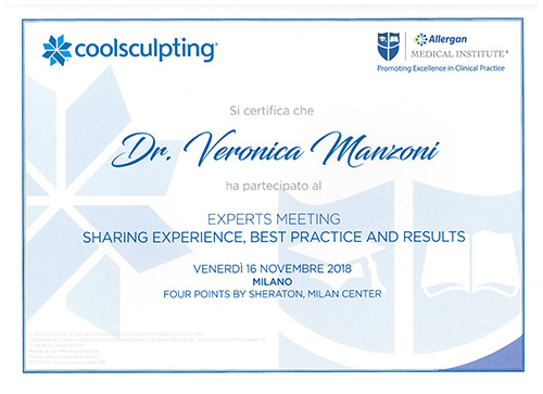 Partecipazione all'Expert meeting Allergon Coolsculpting